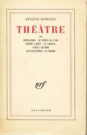 Picture of Eugene Ionesco: Théâtre III