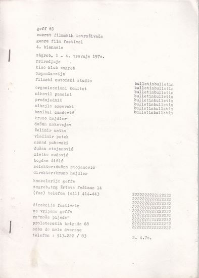 Picture of GEFF 69: Bulletin 1-4 (komplet)