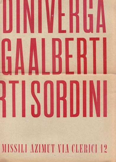 Picture of Alberti, Sordini, Verga: Azimut Galleria, 1960.