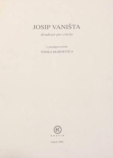 Picture of Josip Vaništa : dvadeset pet crteža