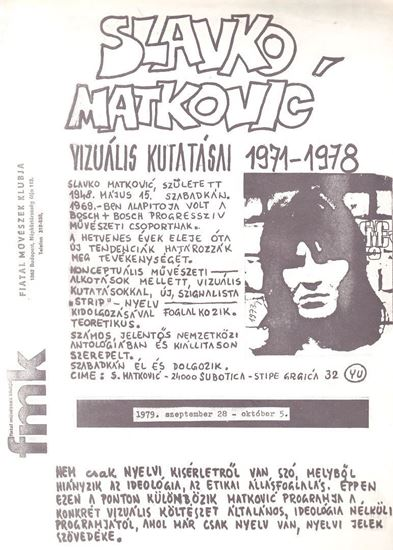 Picture of Slavko Matković: FMK 1971/1978