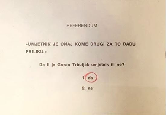 Picture of Goran Trbuljak: Referendum (da)